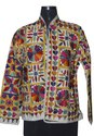 Tribal Asian Textiles Round Neck Ladies Ethnic Embroidery Jacket, Size: S