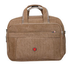Office Laptop Canvas Bag Brown Color