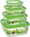 Square Food Container Delight  4pc