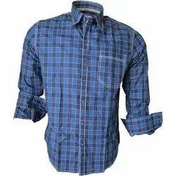 Blue Men Checks Shirt