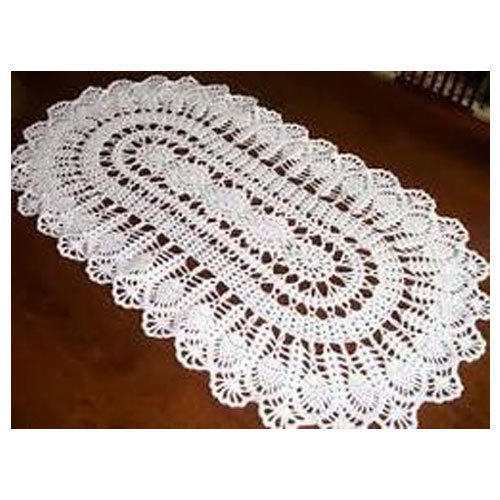 White Handmade Crochet Tablecloth Size 16 X 24 Inch Rs 175 Piece