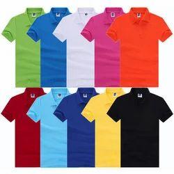 Men's Cotton Collar T-Shirt, Size: S to XL