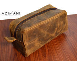 1f665cf6816 Vestta Brown Leather Toiletry Bag, Rs 300  piece, Vitthal Lifestyle ...