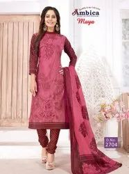 Keshvi Fashion Crepe Unstiched Printed Dress Material