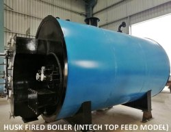 Top Feed Husk Fired Steam Boiler