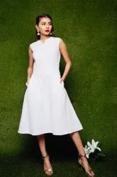 White Cotton Midi Dress