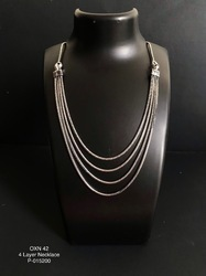 German Silver 4 Layer Necklace