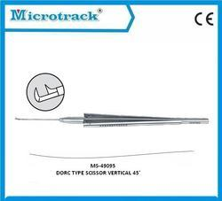 Vitreoretinal Vertical 45 Degree Scissor - Ophthalmic Surgical Instruments