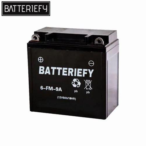 Batteriefy 12 V Gold AGM Bike Battery Capacity 9 Ah Rs 799 Piece