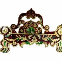 Wooden Meenakari Singhasan for Puja