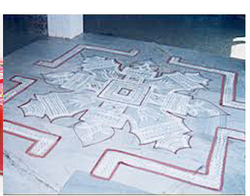 Kolam At Hall And Aarthi Contracts Service