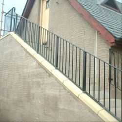 Color Coated Mild Steel Stair Railing, For Home