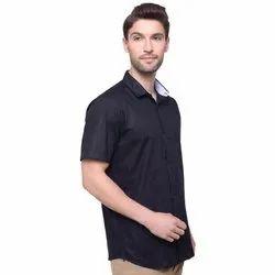 Regular Wear Plain Mens Half Sleeves Shirt, Machine wash