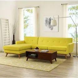 Yellow L Shape Sofa Set