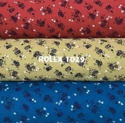 58-60 Rolex Cotton Printed Fabric, For Shirting, GSM: 100-150 GSM