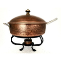 Smokey Finished Copper Hammered Pan Style Chafer