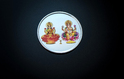 Colour Laxmi Ganesh Silver Coin 10 Gm