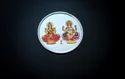 Colour Laxmi Ganesh Silver Coin 10 Gm