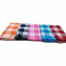 Double Color Check Handloom Cotton Fabric