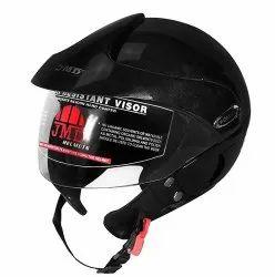 Black Wonder With Peak Glossy Black Helmet, Packaging Type: Box