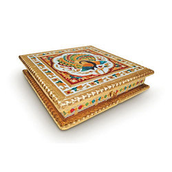 Designer Meenakari Dry Fruit Box