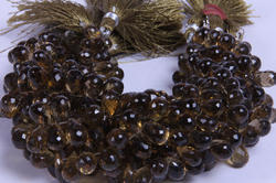 Beer Quartz Side Drilled Faceted Beads
