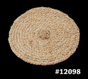 Rounded Braided Rug For Floor, Size: 35 X 35 Cms
