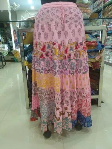 Block Print Long Girls Skirt