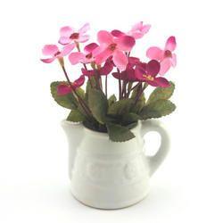 Mini Ceramic Watering Jug With Artificial Flowers