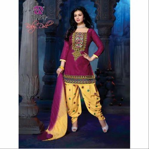 5922dae89b Multicolor Party Wear Ladies Chanderi Salwar Suit, Rs 500 /piece(s ...