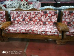 Brown Wooden Sofa