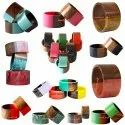 Wooden Lucite Bangle Sets - Vibrant Wooden Resin Bangles Customize-able