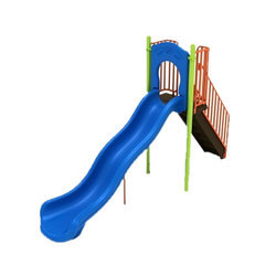 Red Plastic Crescent Slide Playground Slide, Rs 110000