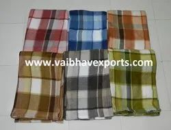 Assorted Check Printed Fleece Blankets