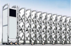 RETRACTABLE TRACKLESS GATES