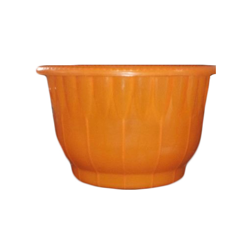 Plastic Orange Designer Tub, Size: 22 Inch