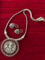 Designer Oxidized Pendent Necklace Set