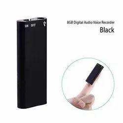 Chargeable World Smallest Voice Recorder Inbuilt 8gb, Memory Size: 12 cm