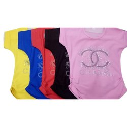 Cotton S, M, L, XXL Girls Fancy Printed Top