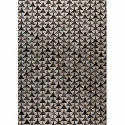 Rectangular Heka Grey White Fancy Leather Handmade Carpet