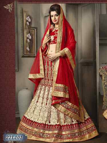 Wedding Wear Bridal Net Indian Lehenga Choli