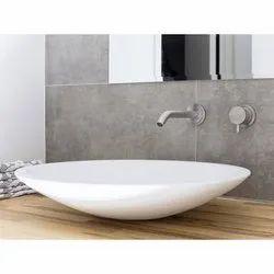 White Designer Ceramic Wash Basin, for Bathroom