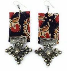 FE004 Handmade Fabric Earrings