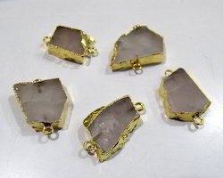 Rose Quartz Slice Connector