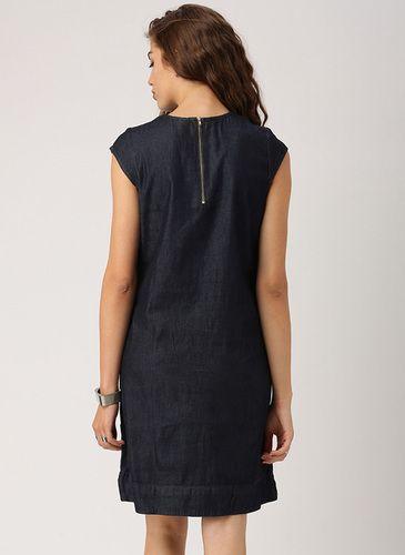 759210de202 Dresses Women Dress Shirt Casual Denim Boat Neck Dress Dressy Tunic Tops
