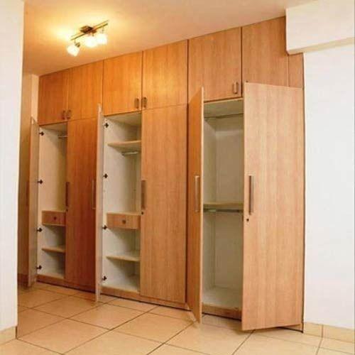 6 Door Plywood Designer Bedroom Wardrobe