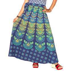 Cotton Multicolor Wrap Around Skirt