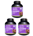 Chocolate Flavour 3.3 Lb Pack Of 3 Zemaica Healthcare Weight Gainer Powder