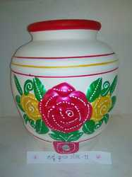 CLAY WATER POT ROSE 11T