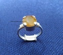 Yellow Sapphire ( Pukhraj ) Gemstone Ring Sold By Taj Ring Enterprises